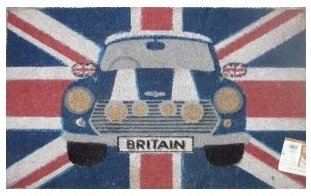 Retro - Mini Car Coir Mat (British Car Mats compare prices)