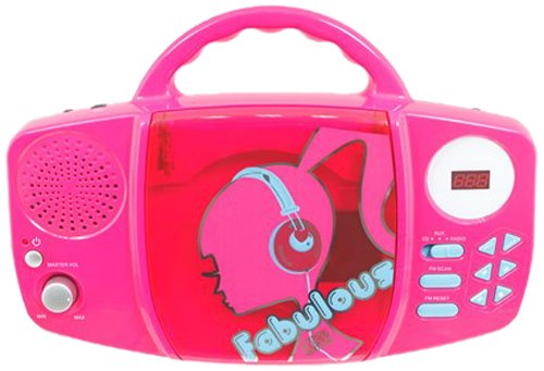 Barbie Fabulous Sing Along CD Player  - Pink