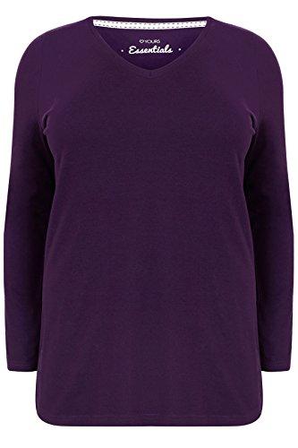 yoursclothing-plus-size-womens-long-sleeve-v-neck-plain-t-shirt-size-26-28-purple