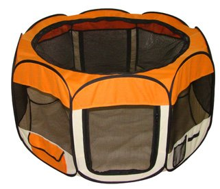 Orange Pet Dog Tent Puppy Playpen Exercise Pen Kennel S