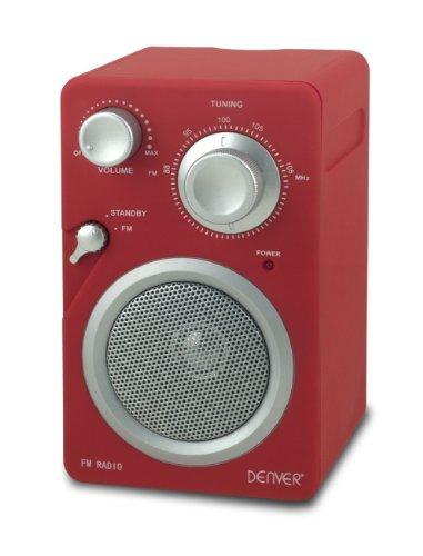 Denver TR-41C Mini Radio UKW Radio Tuner (AUX-IN für MP3-Player oder Smartphones, Retro-Look,Netz- und Batterie-Betrieb) lila