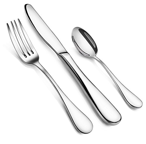 Artaste 59380 Rain 18/10 Stainless Steel Flatware 36-Piece Set, Service for 12 (Dinnerware Sets Service For 10 compare prices)