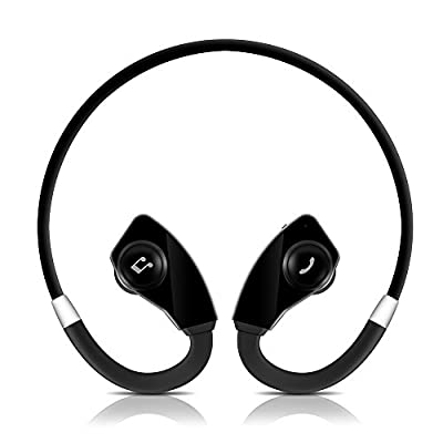 Bluetooth Sports Headset Headphone , Sweatproof Stereo Apt-X technology , Wireless Neckband Earphone Earpiece with Bluetooth Version 4.1 for Most Smart Phones and Bluetooth Devices