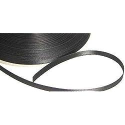 Kel-Toy Double Face Satin Ribbon, 1/4-Inch by 100-Yard, Black
