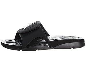 Air Jordan Hydro 4 - Black / Black-White, 9 D US