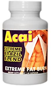 Acai Extreme Brazil Blend With Green Tea Apple Cider Grapefruit 60 Capsules Ultra-potency Weight Loss Diet Pill from Acai Brazil