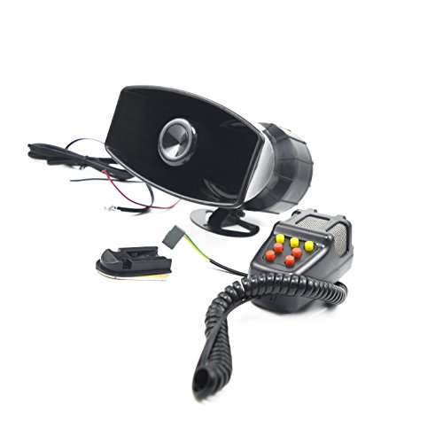 Mgo 12V 80W 7 Tone Sound Car Siren Vehicle Horn With Mic PA Speaker System Amplifier Emergency Sound