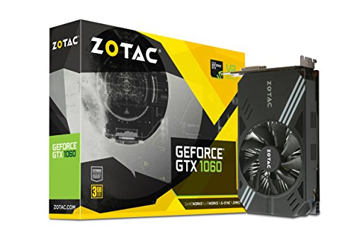 ZOTAC GeForce GTX 1060 Mini 3GB GDDR5 Super Compact Graphics Card (ZT-P10610A-10L)