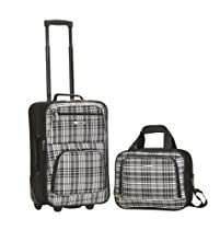 Rockland Luggage 2 Piece Printed Set, Blackcross, Medium