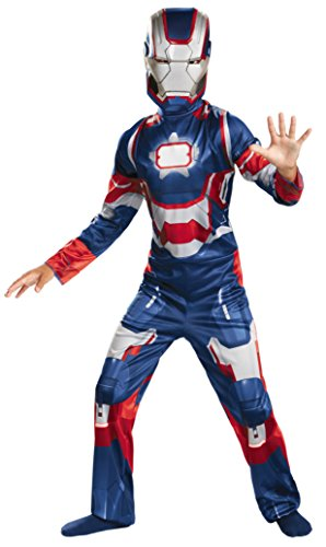 Boys Iron Patriot Classic Kids Child Fancy Dress Party Halloween Costume