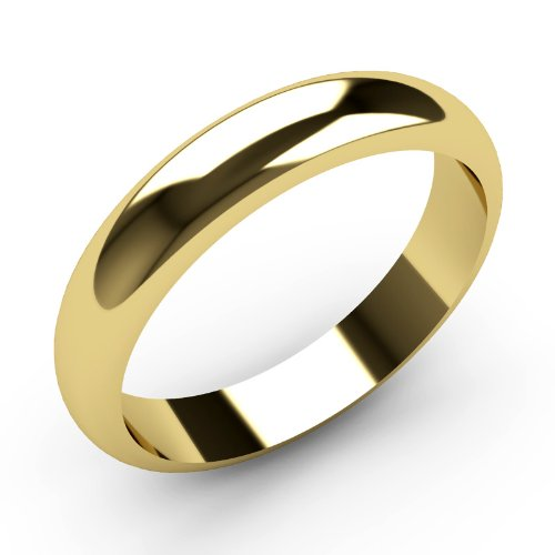 Solid 9ct Yellow Gold Wedding rings 4mm Width D Shaped Band Heavy Weight. Band Made By our own Craftsmen in Birmingham's Jewellery Quarter. Fully Hallmarked High Polish Finish.