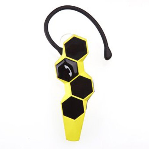 Bestfire® Brand New Universal Honeycomb Nfc Business Wireless Bluetooth 4.0 Headset Earphones Earpiece Headphone Earbud General Stereo Bluetooth With Clear Voice Capture And Echo Cancellation With Microphone For Iphone 5S 5C 5 4S, Galaxy Note 3 2 S4 S3 Lg