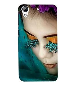 Printvisa Premium Back Cover Girl With Green Eyelashes Design For HTC Desire 626::HTC Desire 626G Plus::HTC Desire 626G+