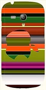 Attractive multicolor printed protective REBEL mobile back cover for S3 Mini / Samsung I8190 Galaxy S III mini D.No.N-L-12090-S3M