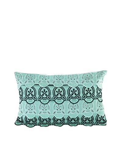 Nanette Lepore Villa Cottage Fresh Eyelet Decorative Pillow, Turquoise