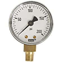 WIKA Commercial Pressure Gauge with ABS Plastic Case and Copper Alloy Wetted Parts