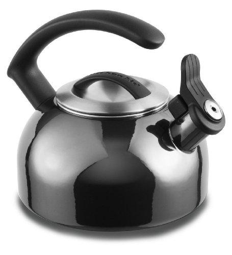 Kitchenaid 1.5-quart Rem Lid Tea Kettle Whistle Kten15anpr Pyrite Metal Color