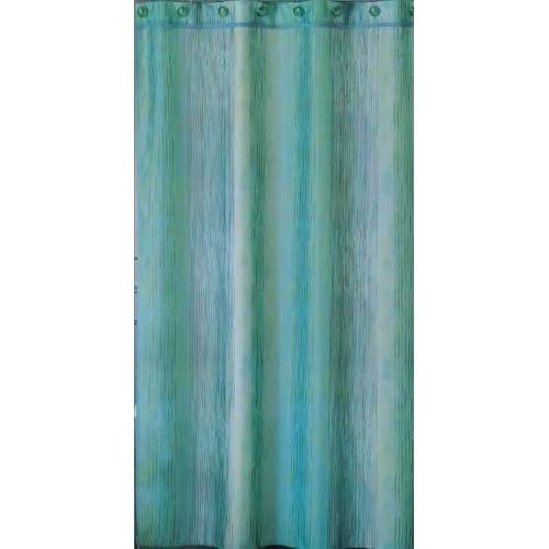 Ocean ombre blue stripe shower curtain Home & Kitchen