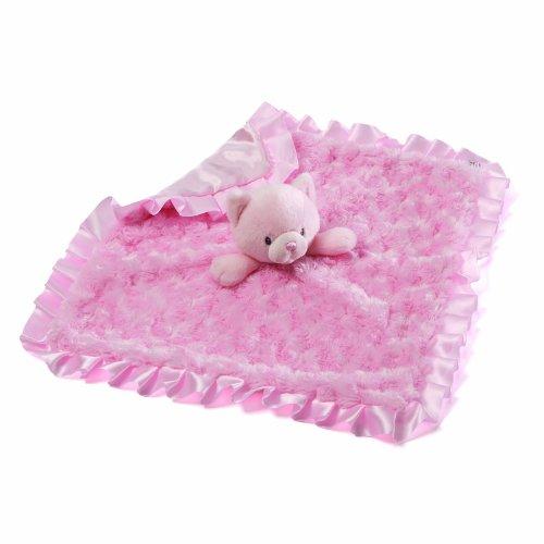 Gund Baby Gund Prancy Pink Cat Satineehug Blanket front-601822