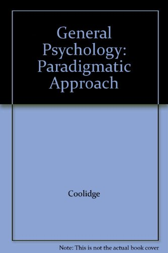 General Psychology: Paradigmatic Approach