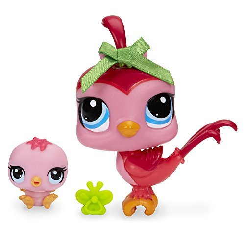 Littlest Pet Shop Bird and Baby Bird Figure Set - 1