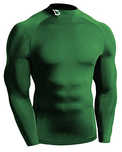 Defender New Men's Winter Compression Mock Shirts Baselayer Tights Soccer GR_L (Cheap Hockey Ice Skates compare prices)