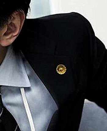 逆転裁判 ヒマワリ 徽章 バッジ 【弁護士】 ☆本物そっくり 高品質 【専用ケース付き】