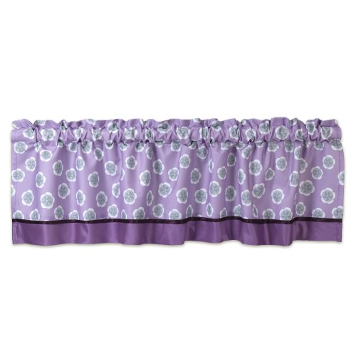 Lambs & Ivy Window Valance, Lavender Jungle - 1