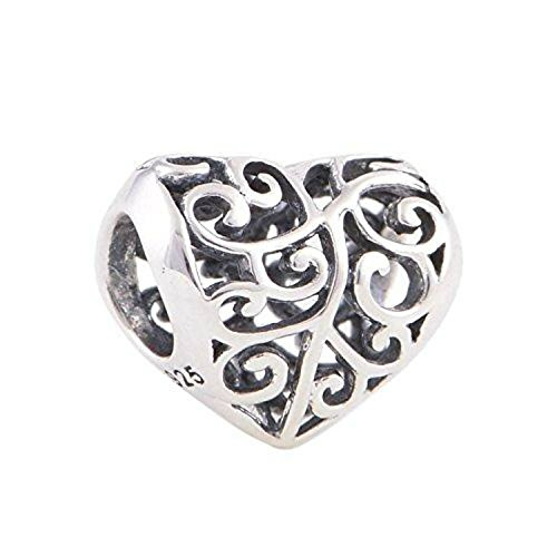 Family Tree of life Heart Authentic 925 Sterling Silver Bead Fits Pandora Charms