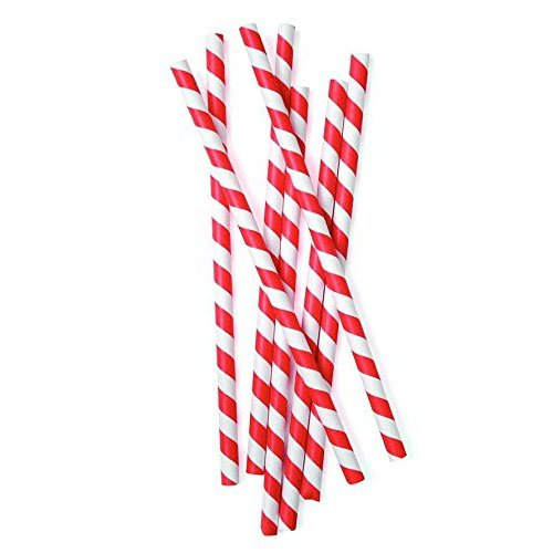 red and white paper straws Meri meri party straws, red and white is a classic set with a twist the pack  contains 24 paper straws 2the pack measures 1 inch by 3 inches by 8 inches.