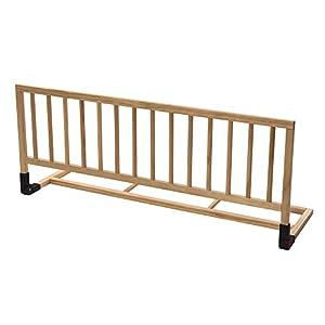 H3 Baby W015 Femke - Barrera de seguridad para camas de bebé color madera natural