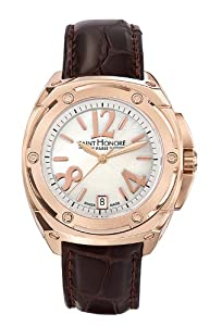 Saint Honore Women's 766070 8BYAR Haussman 18K Rose Gold Plated Mother-Of-Pearl Watch
