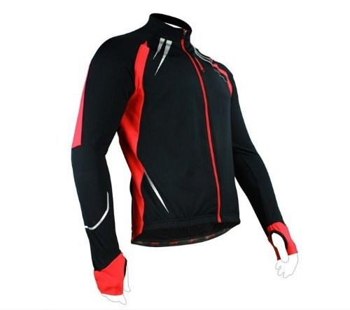 SANTIC Cycling Fleece Thermal Long Jersey Winter Jacket Gabriel X-Large Red (Thermal Bicycle Jacket compare prices)