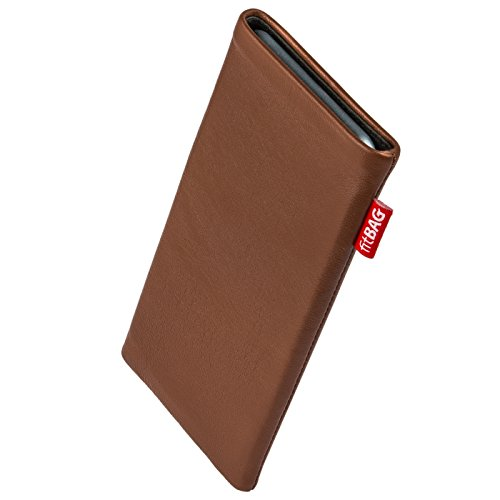Click to buy fitBAG Beat Brown custom tailored sleeve for Samsung B2710. Fine nappa leather pouch with integrated microfibre lining for display cleaning - From only $24.9