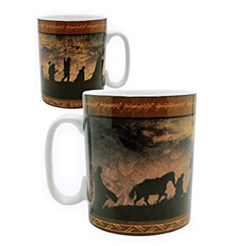 lord of the the ring mug 460 ml la communaut porcl avec bo te cuisine maison. Black Bedroom Furniture Sets. Home Design Ideas