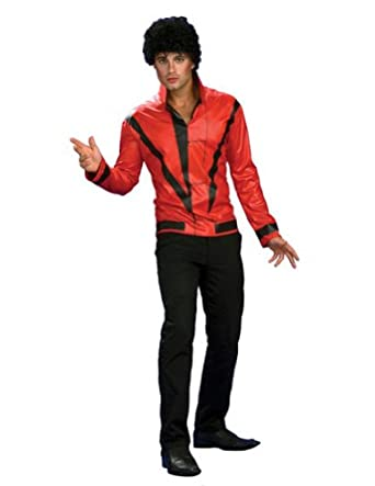 Adult-costume Michael Jackson Rd Thriller Jacket Deluxe Halloween Costume, Multicolored