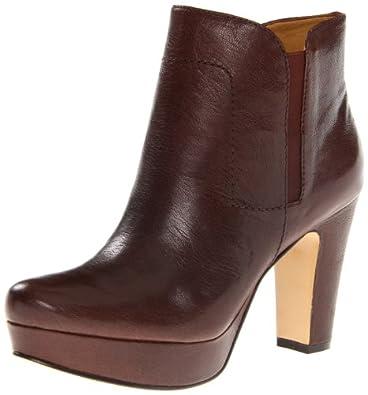 Nine West Women's Partyrock Platform Bootie,Dark Brown Leather,10 M US