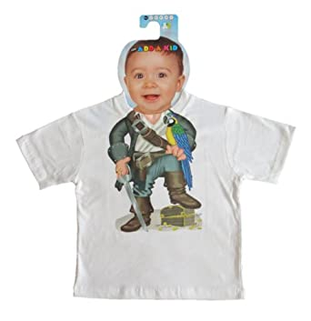 Justaddakid Pirate Body Outfit Toddler White T-Shirt