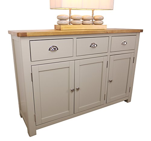 aspen painted oak sage large grey 3 door 3 drawer. Black Bedroom Furniture Sets. Home Design Ideas
