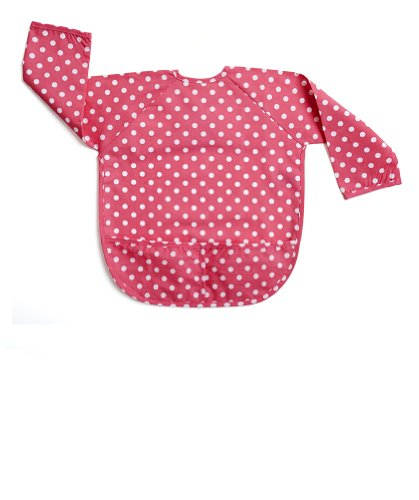 Leveret Bib (X-SMALL (6-18 Months), Dots Pink)
