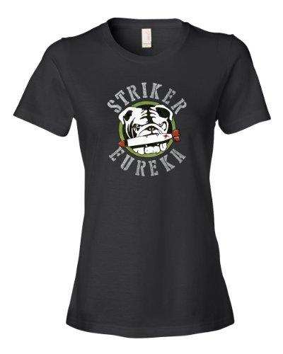 Striker Eureka Tee Shirt Womens L black U (Eureka Robot compare prices)