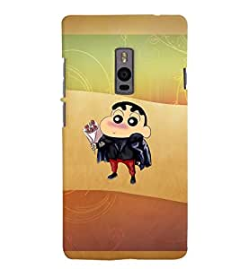 PrintVisa Cute Cartoon Cool Boy 3D Hard Polycarbonate Designer Back Case Cover for One Plus Two