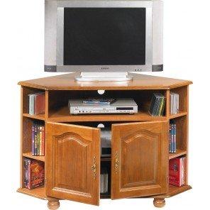 Mobile da TV, ad angolo, 2 ante, colore: quercia