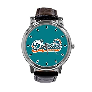 [ZhuYou] Custom Miami Dolphins Fashion Design Personalized Men Women Wrist Watch Leather Band Men's Sport Watch hot!