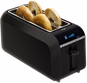 T-fal TL6802 4-Slice Digital Toaster with Bagel Function, Black