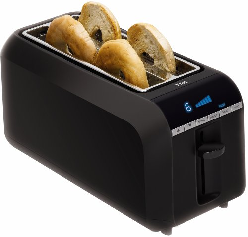 T-fal TL6802002 4-Slice Digital Toaster with Bagel Function, Black
