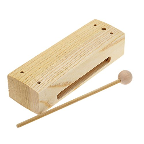Andoer wooden percussion block woodblock with mallet