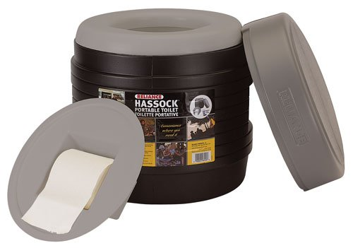 Reliance Products Hassock Portable Lightweight Self-Contained Toilet (colors