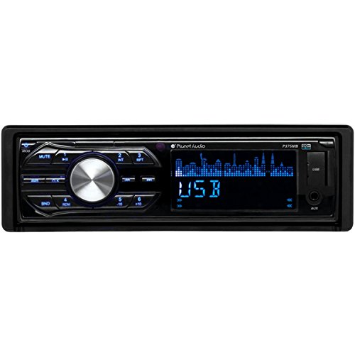 Planet Audio P375MB In-Dash Single-Din SD/MP3 Player Receiver Bluetooth Streaming Bluetooth Hands-free with Remote