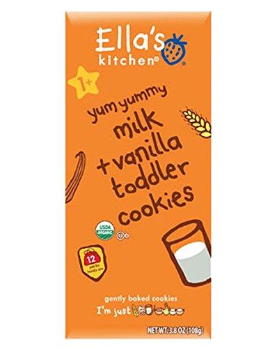 Ella's Kitchen 2 Toddler Cookies - Milk & Vanilla - 3.8 oz - 1
